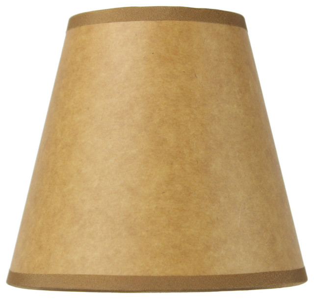 Parchment Wall Lamp Shades : Brown / Parchment Premium Candelabra Lampshade 3x5x4.5 - Contemporary - Lamp Shades - by ...