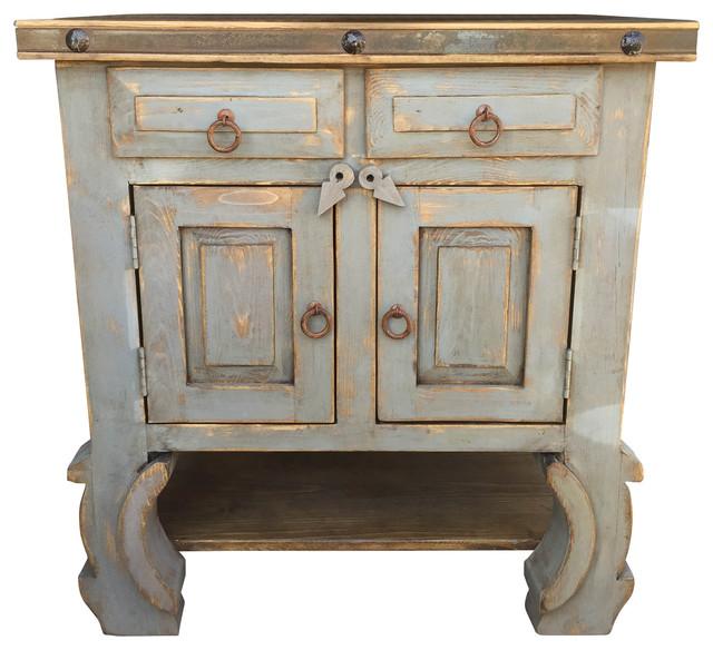 San Pascual  Rustic Vanity Vintage Gray Asian Bathroom Vanities And Sink Consoles By