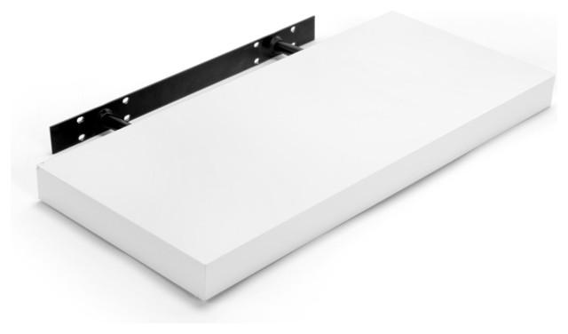 Glossy tablette murale contemporain tag re utilitaire par alin a mobil - Tablette blanc laque ...