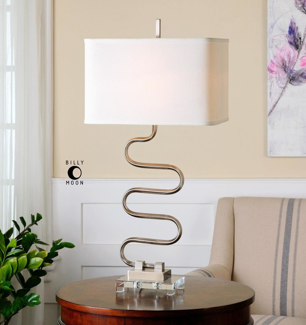 Uttermost Karna Wavy Metal Table Lamp Contemporary