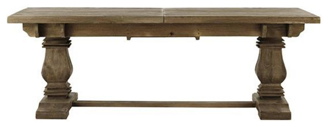 Extendable Mango Wood Dining Table Antique Grey  : transitional dining tables from www.houzz.com size 640 x 248 jpeg 25kB