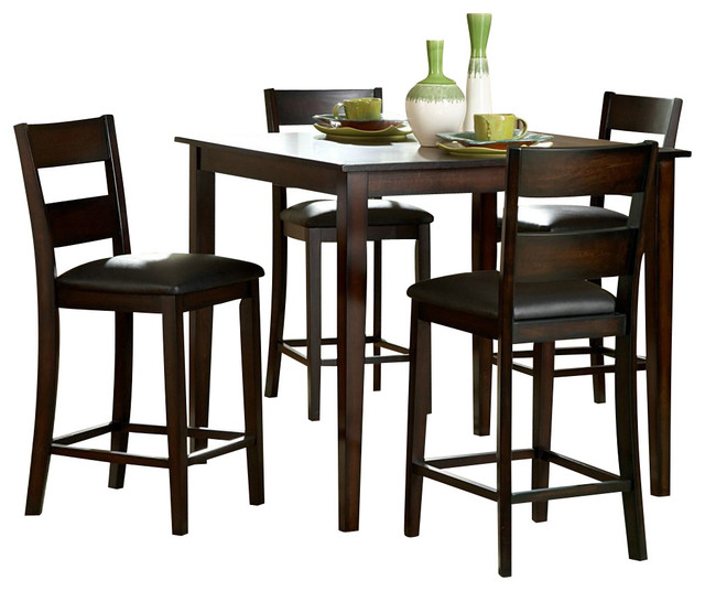 5 piece pack counter height set traditional indoor pub and bistro sets by beyond stores. Black Bedroom Furniture Sets. Home Design Ideas