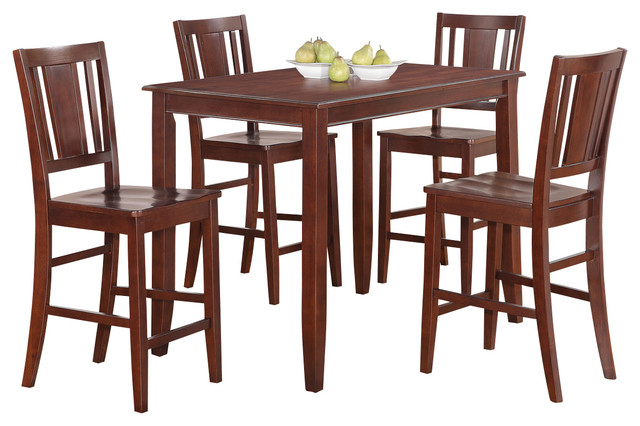 piece gathering table set high top table and 4 kitchen counter chairs