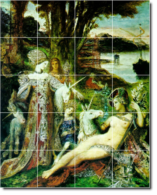 Gustave moreau mythology painting ceramic tile mural 76 for Ceramic mural painting