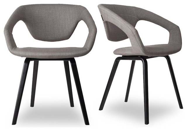 Lot de 2 fauteuils design Flex back Black Couleur Gris clair ...