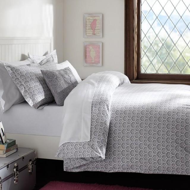 Florette Duvet Cover Sham Light Grey Duvet Covers And