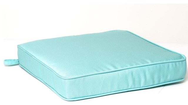 Extra Large Replacement Seat Cushion With Piping Canvas Glacier Modern