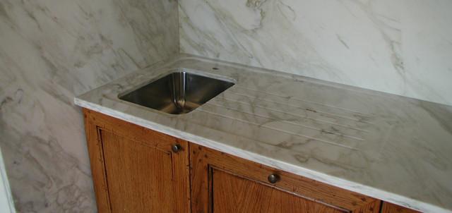 Piano cucina in marmo calacatta
