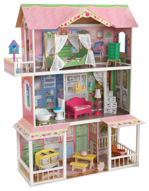 Kidkraft Sweet Savannah Dollhouse With Furniture 65851 Traditional Kids Toys And Games