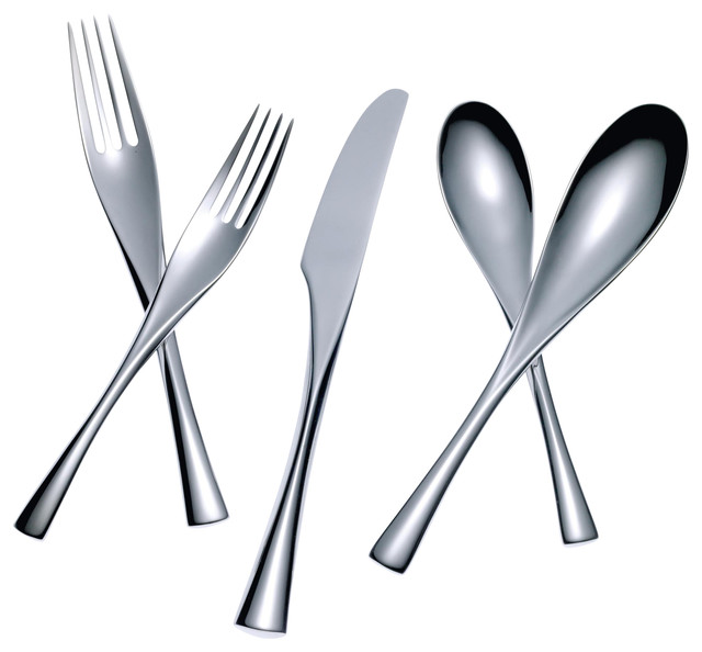 Merge 5 Piece Place Setting Contemporary Flatware And