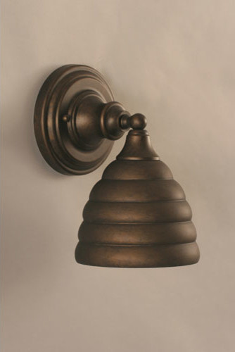 Bronze Wall Sconce with Beehive Metal shade - Modern - Wall Sconces - by Bellacor