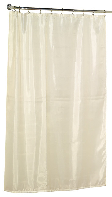 Stall Size Long Shower Curtain, Ivory - Traditional - Shower Curtains ...