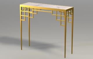 Manhattan console with inset marble asiatisch for Gartenmobel asiatisch