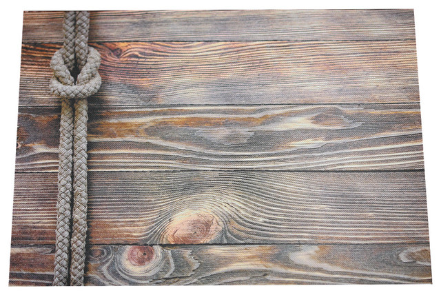 Rustic Wood Print Semi Disposable Placemats 12x16 10 Uses