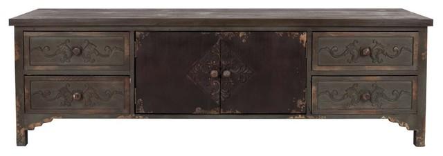 buffet vintage bois fonc grav fuz scandinave buffet et bahut par. Black Bedroom Furniture Sets. Home Design Ideas
