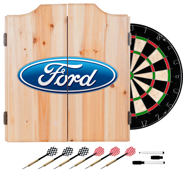 Ford Oval Dart Cabinet Set With Darts and Board traditional-darts-and ...