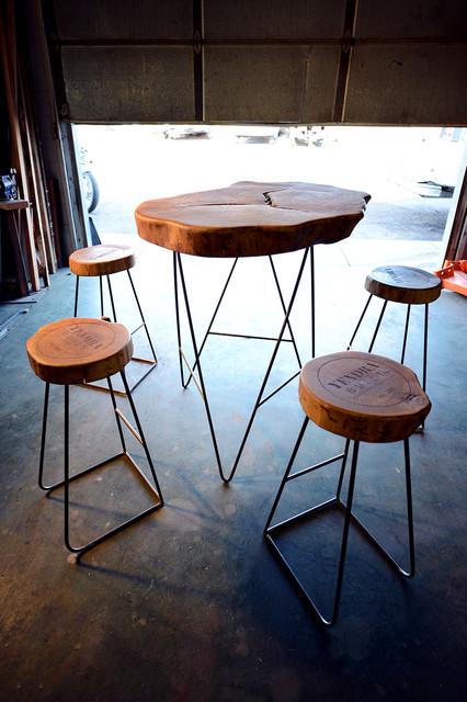 Custom furniture rustic bar stools and kitchen stools denver by yendrabuilt - Barstools denver ...
