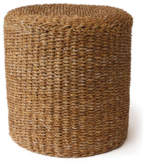 Sea Grass Round Pouf - Beach Style - Floor Pillows And Poufs - by Napa Home & Garden