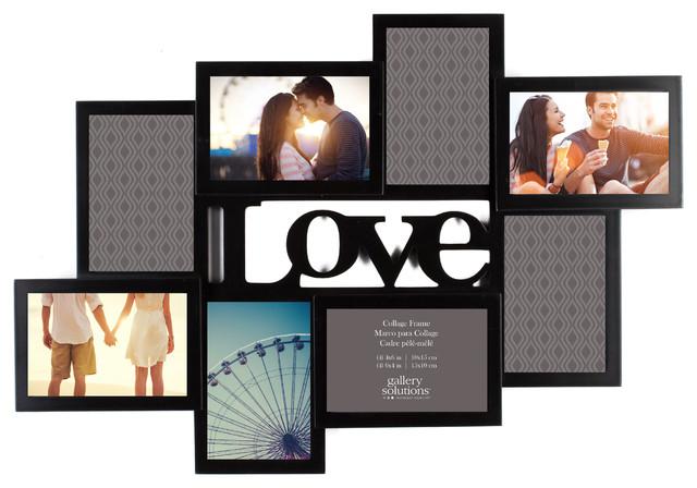 Love 8 photo frame collage modern picture frames for Modern collage frame