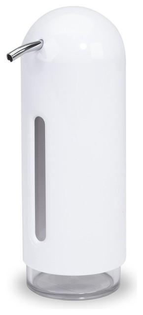 Umbra Penguin White Soap Dispenser Pump 15 Oz Contemporary Soap Lotion Dispensers By