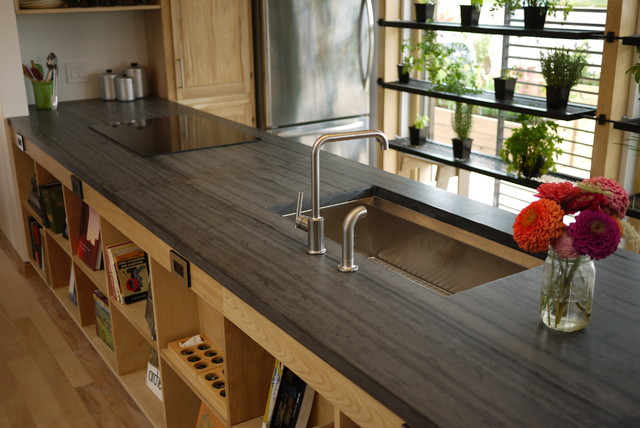 Slate Countertop Kitchen Countertops Other By