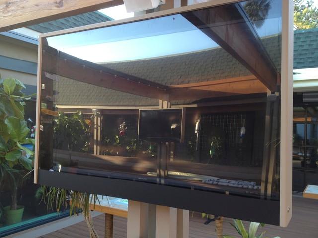 custom built outdoor tv enclosures beach style outdoor decor