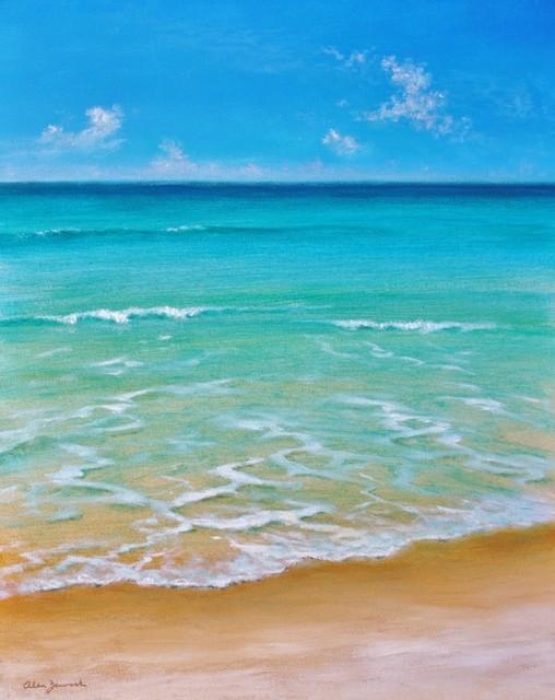 Original Seascape Low Tide Acrylic On Canvas Paintings