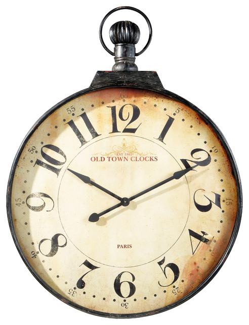 Horloge murale gousset top grande horloge pendule murale - Horloge murale cuisine rouge ...