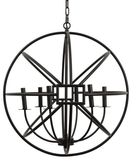 Six Halo Orb Chandelier Pendant Lighting By Decor Therapy