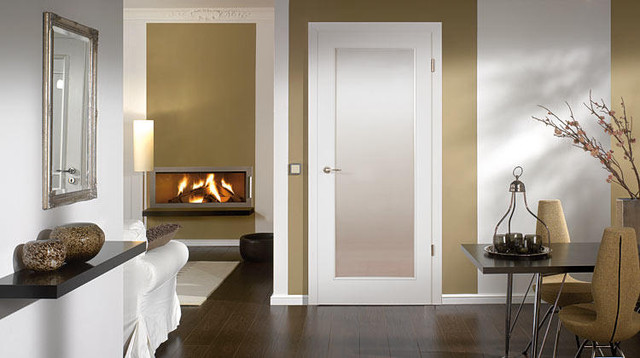 "Wood Doors - ""Townhome"" - Modern - Living Room - Miami - by Bartels Doors & Hardware"