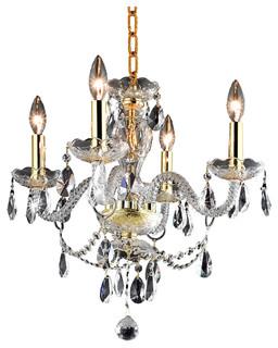 Elegant Gold Crystal Chandelier