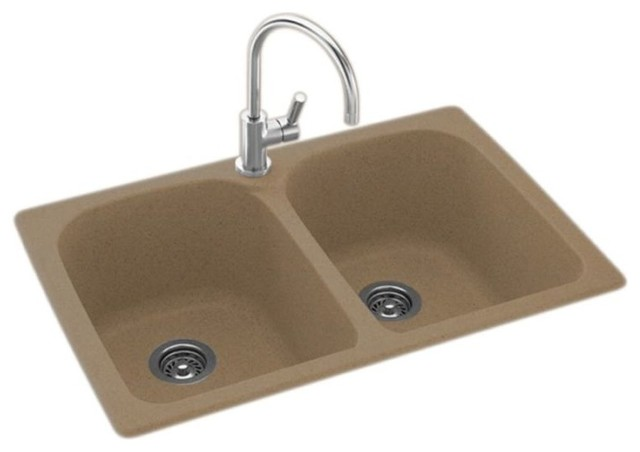 Swan 33x22x10 Solid Surface Kitchen Sink 1 Hole Barley