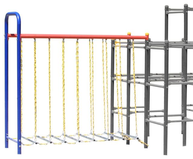 Skywalker sports hanging bridge module contemporary for Swing set bridge