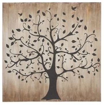 Tree Themed Classy Canvas Wall Art transitional-artwork