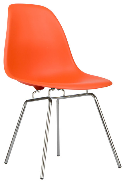 Modern Classroom Chairs : Classroom slope chair in orange modern living room