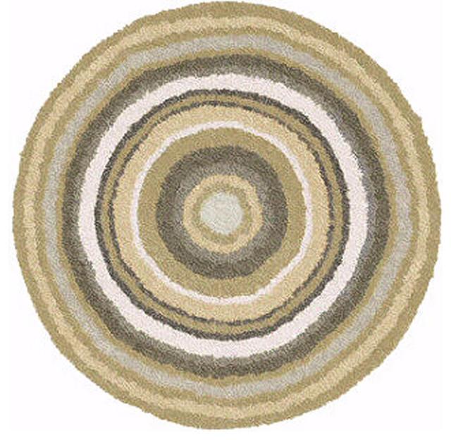 Taupe Round Non Slip Washable Bathroom Rug Mandala Large Contemporary Bath Mats By Vita