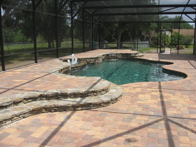 Natural freeform indoor pool with spa orlando di all for Indoor nature design challenge