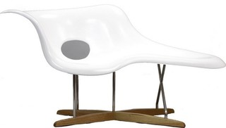 Amoeba la chaise midcentury chaise longue by in mode - Lampadaire la chaise longue ...