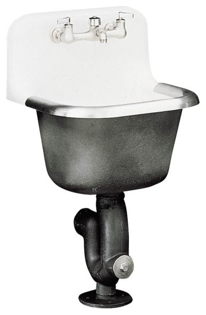 Kohler K 6714 0 Bannon Service Sink With Rim Guard And