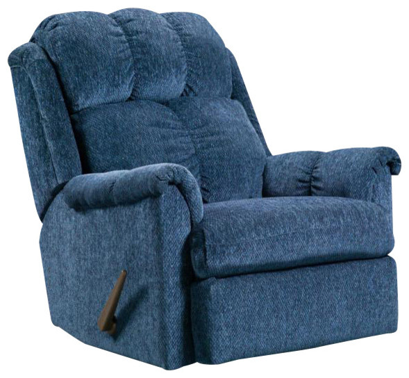 Chelsea home rocker recliner in tahoe blue traditional recliner chairs