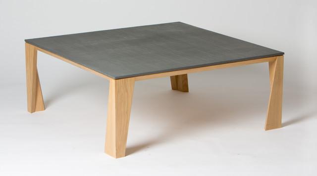 Table basse bois et b ton contemporain table basse - Beton cire sur table bois ...