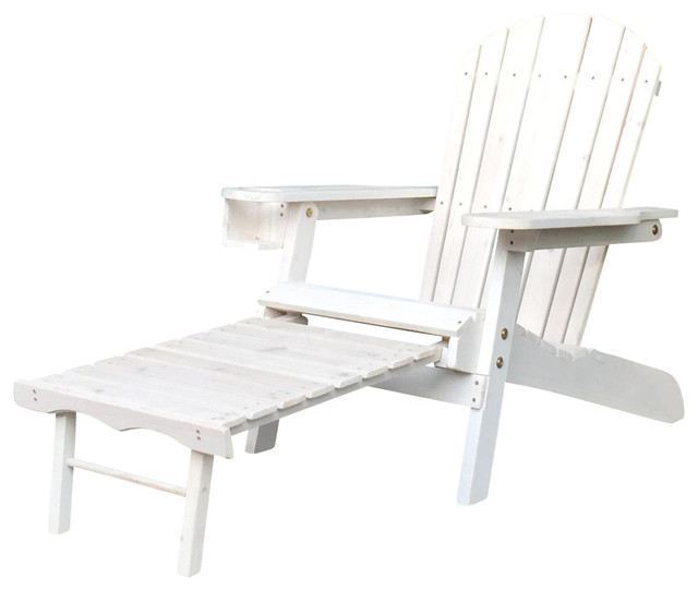 Pelican Hill Wood Adirondack Patio Chair With Pull Out