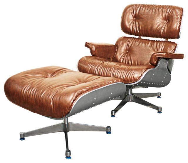 Grayson lounge chair and ottoman with aluminum frame for Aluminum frame chaise lounge