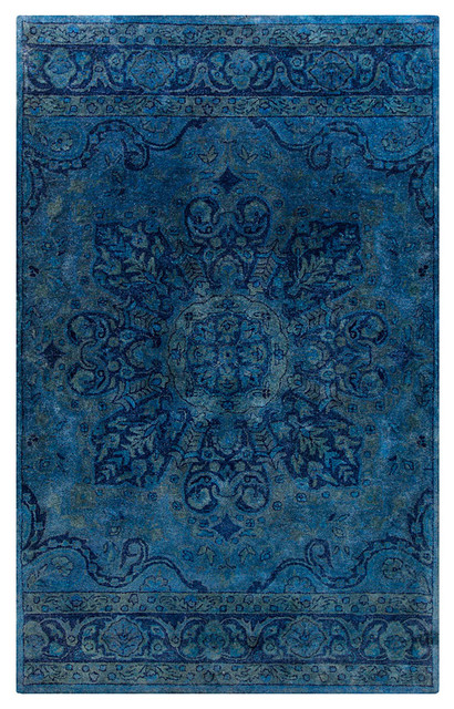 Mykonos rug sky blue teal and navy 8 39 x 11 for Navy and teal rug