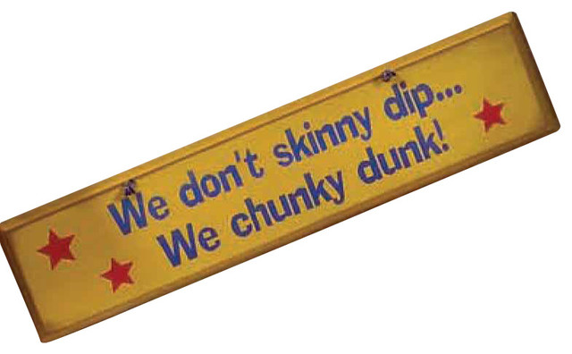 We Don'T Skinny Dip Rustic Wood Sign - Rustic - Novelty Signs - by MyBarnwoodFrames Decor Inc.