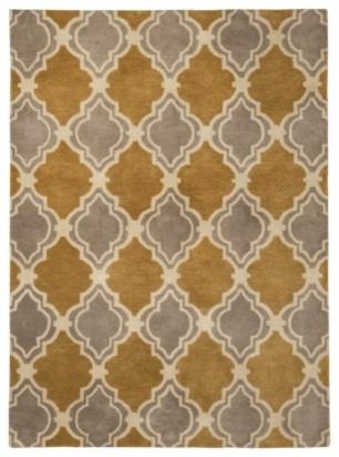 Threshold Traditional Fretwork Wool Area Rug Sahara Gold