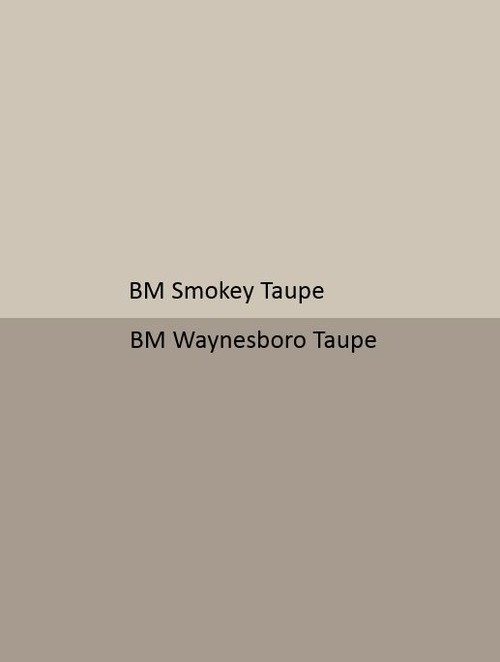Wall colors does taupe family flow from cool gray kitchen for Waynesboro taupe benjamin moore