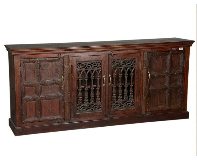 Gothic Gates 85 Reclaimed Wood Sideboard Buffet Cabinet