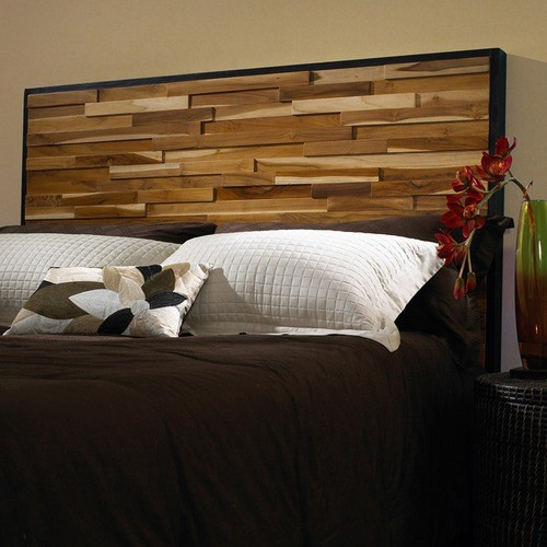 Reclaimed Wood Panel Headboard Modern Headboards By