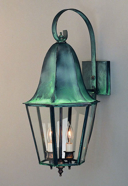Exterior Wall Sconces Traditional : Tulip Wall Lantern - Traditional - Outdoor Wall Lights And Sconces - philadelphia - by Copper ...